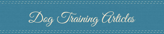 Dog Training Articles